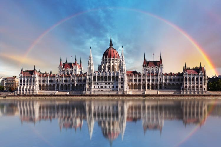 Budapest Parliament Building on the Dunube