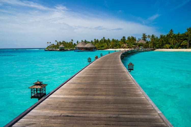 Dock in the Maldives