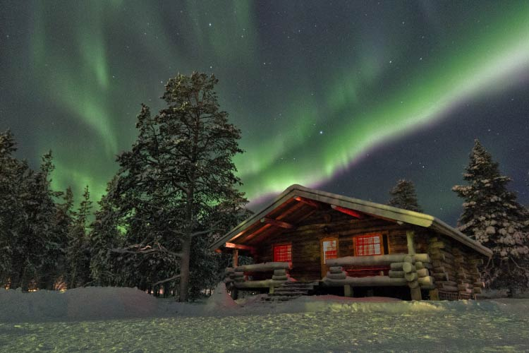 Lapland Cabin and Northern Lights