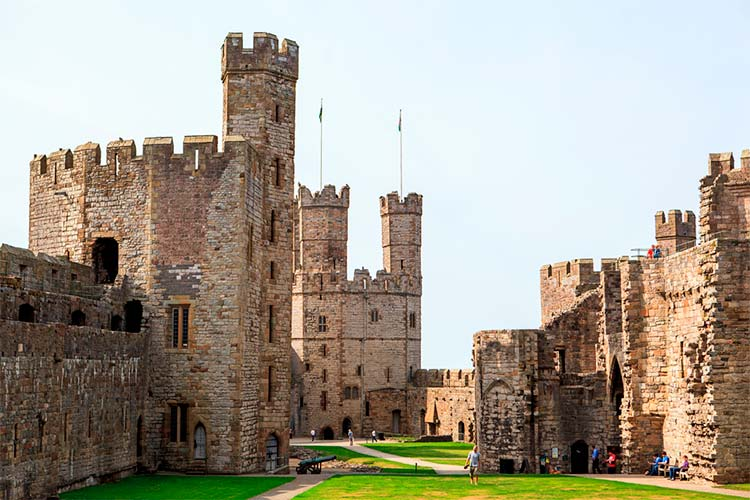 The grounds at Caernarfon Castle