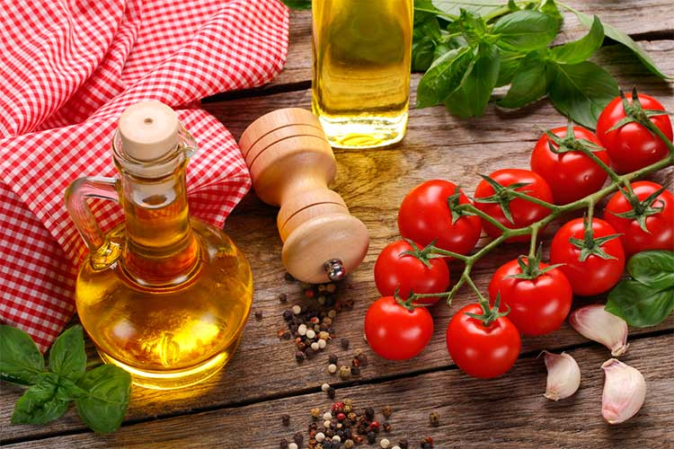 Typical Fresh Ingredients used in Italian Cuisine