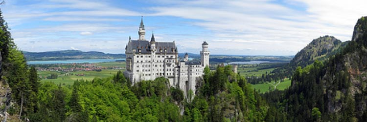 Neuschwanstein Castle, Germany. One of the many castles around the world