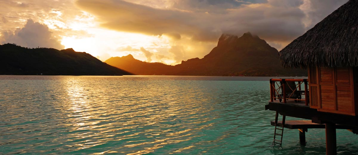 Sunrise at Bora Bora , French Polynesia