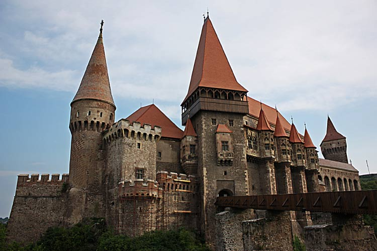 Castle of Hunedoara, Romania. One of the largest Medieval Castles in Europe
