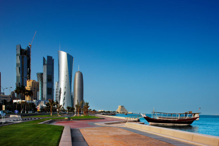 View along the Doha Corniche