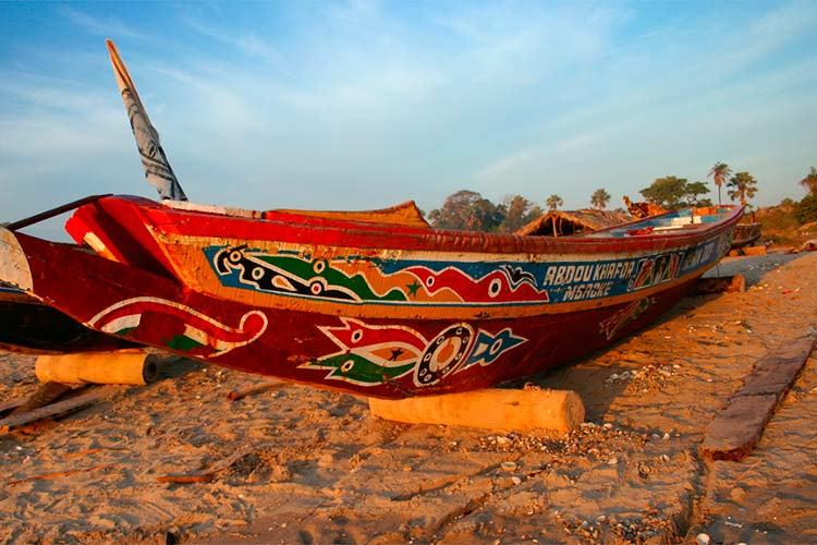 Fishing boat in The Gambia
