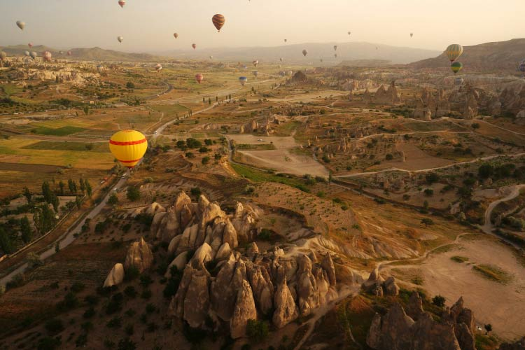 Balloon flight over Cappadocia