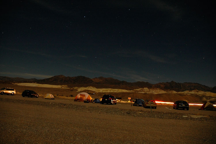 Death Valley, Camp out and wait for the magic
