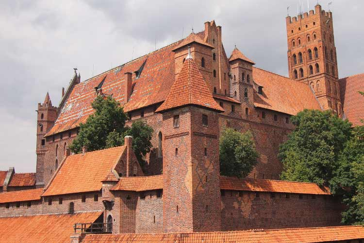 Malbork Castle in Poland is one of the biggest castles around the world