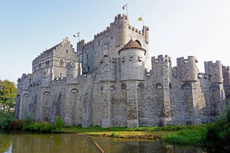 Gravensteen Castle in Belgium