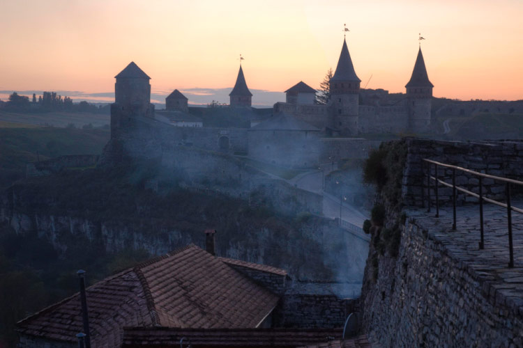 Kamianets Podilskyi Castle in the Ukraine