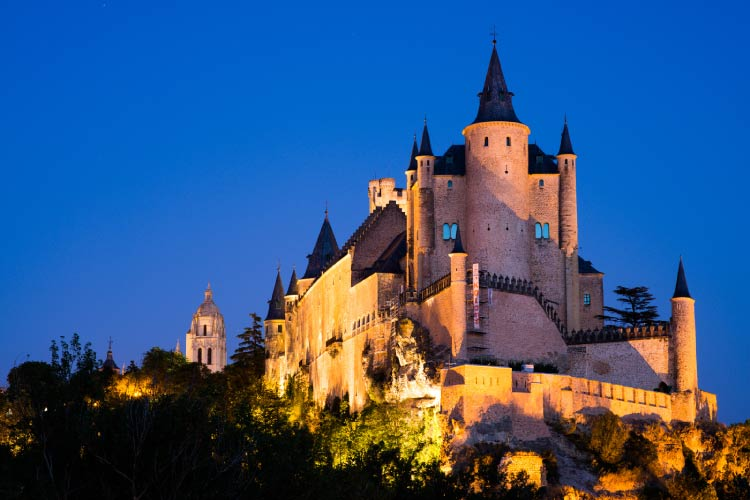 Alcázar de Segovia in Spain on of the great Castles around the world
