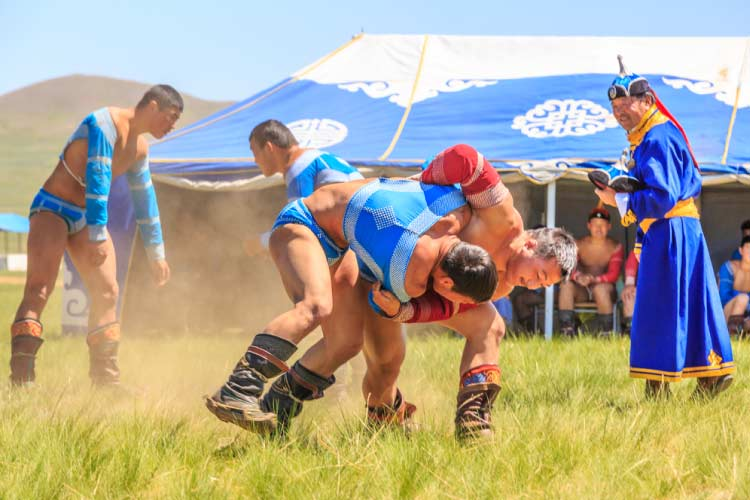 Traditional Mongolian Wrestling