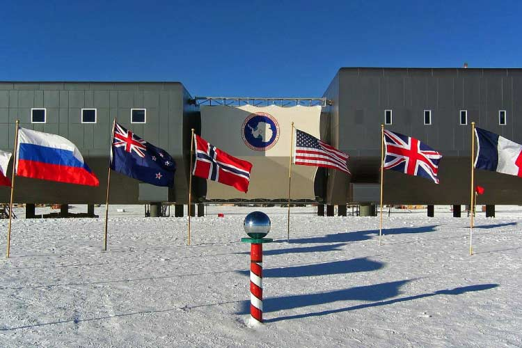 Research Camp in Antarctica