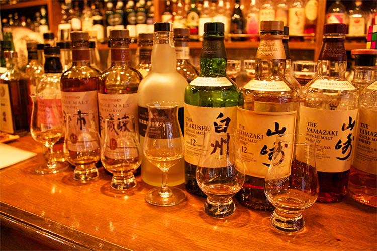 Selection of Japanese Whiskey