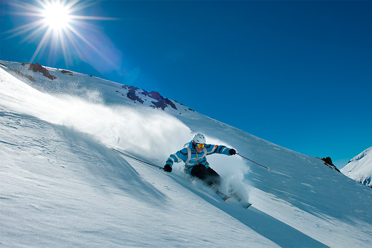 The Andes, one of the best places to ski in the world