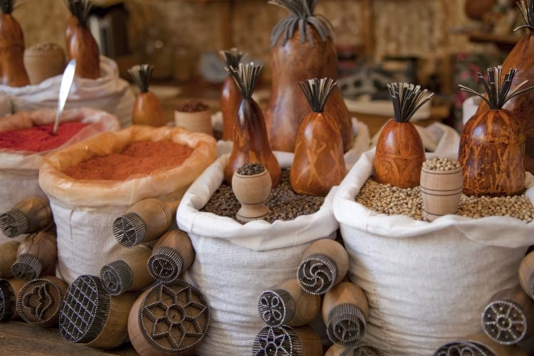 Spices of Uzbekistan in the market