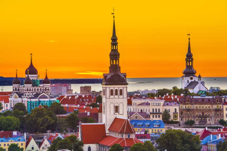 Tallinn Skyline, Estonia, Eastern Europe
