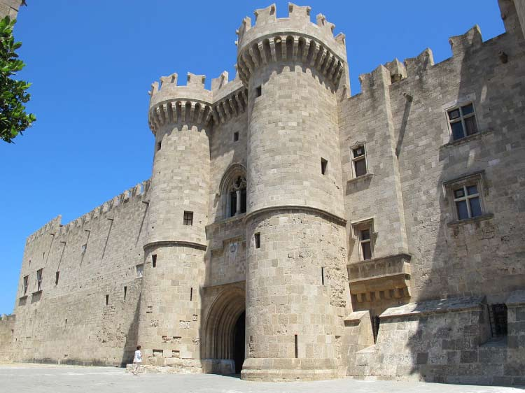 The Palace of Grand Masters. One of the rare Medieval Castles in Greece