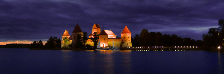 Trakai Island Castle at night