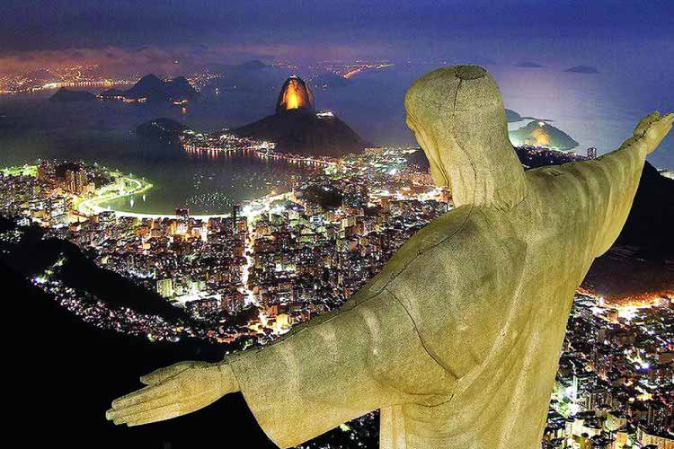 View of Rio from Christ the Redeemer - One of the New Wonders of the World