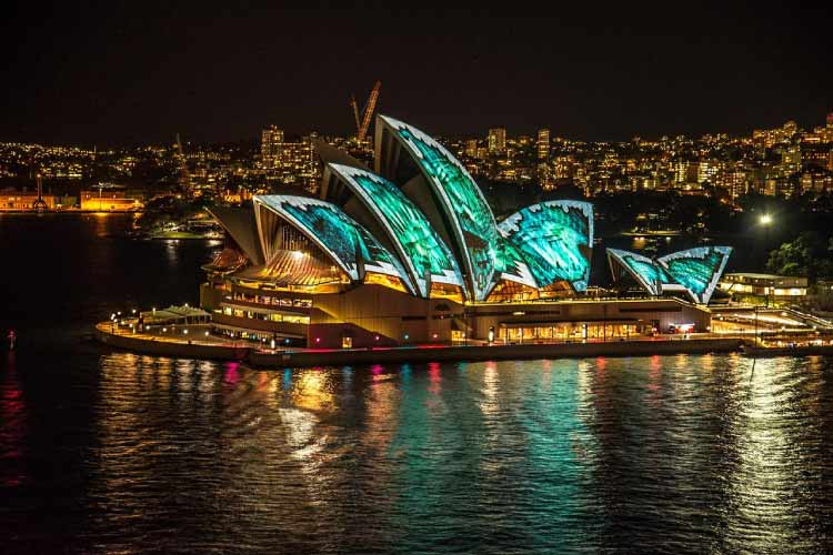 Vivid Lightshow at the Sydney Opera House