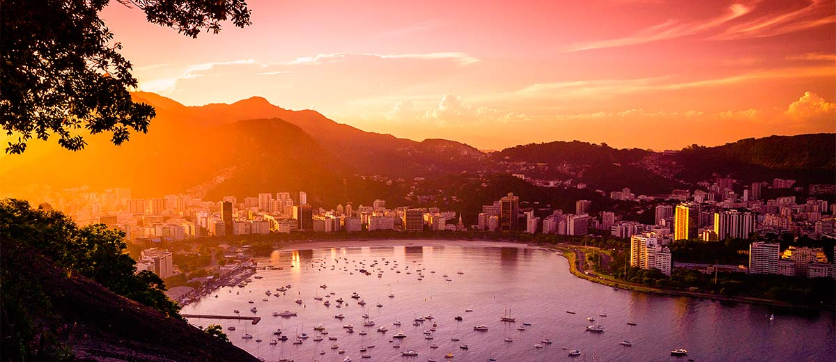 Buildings at the waterfront, Guanabara Bay, Rio De Janeiro Featured Image