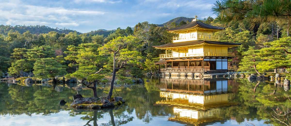 Kinkakuji Golden Pavilion in Kyoto, Japan