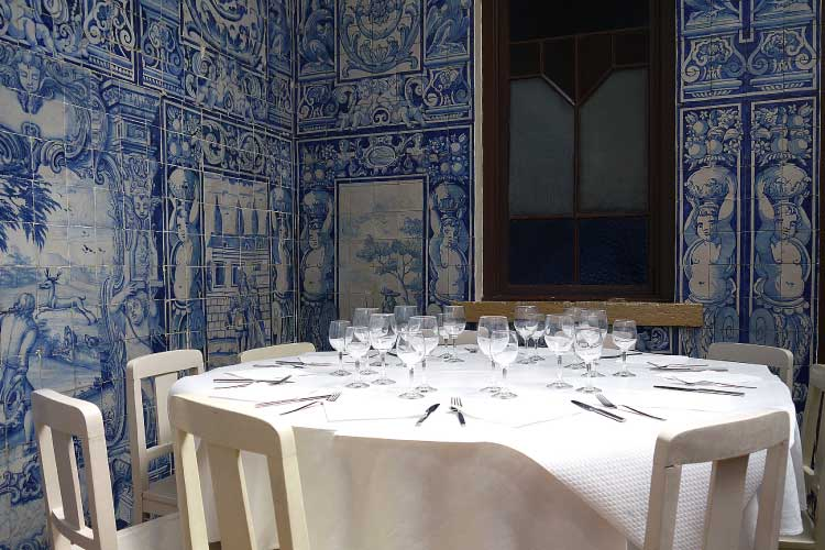 Azulejo Tiles in a Lisbon Restaurant