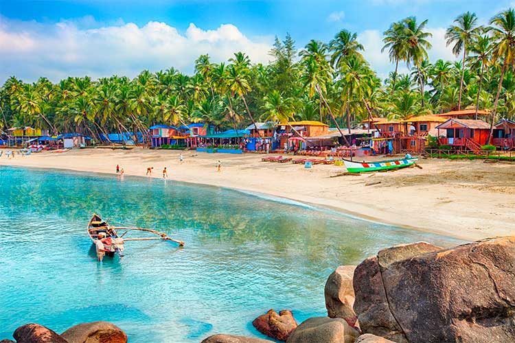 Beautiful Goa province beach in India