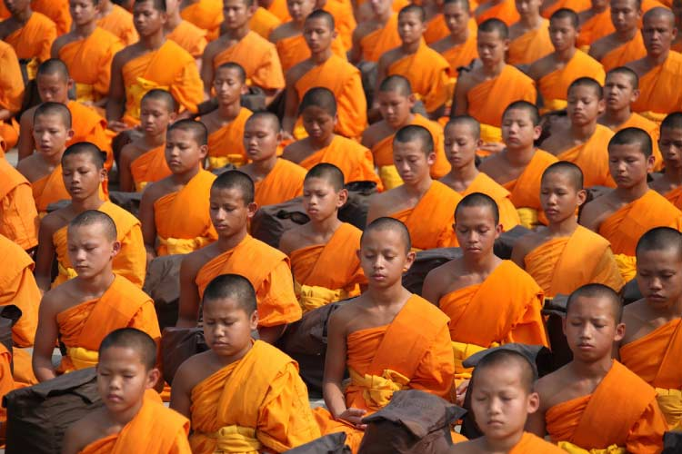 Bhudist Monks in Thailand
