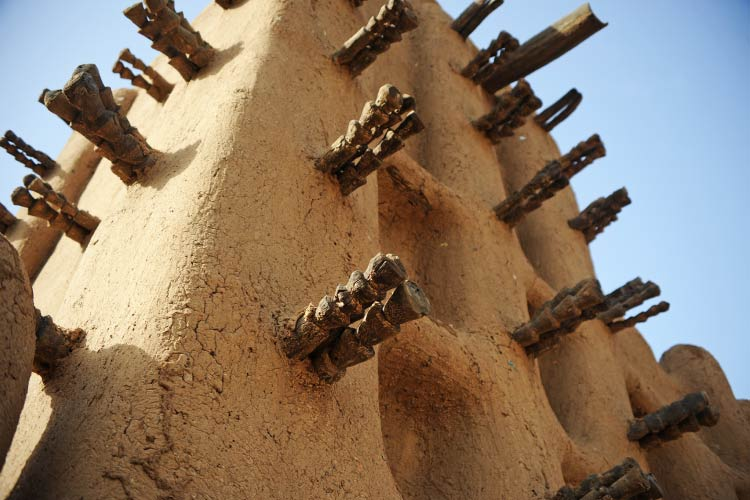 Closue up Timbuktu Mosque - Mali