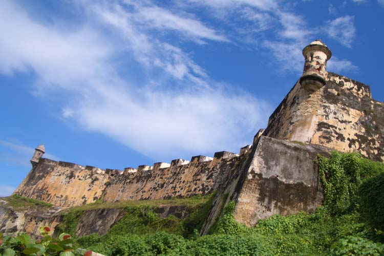 El Morro Fortress, a view from the trial