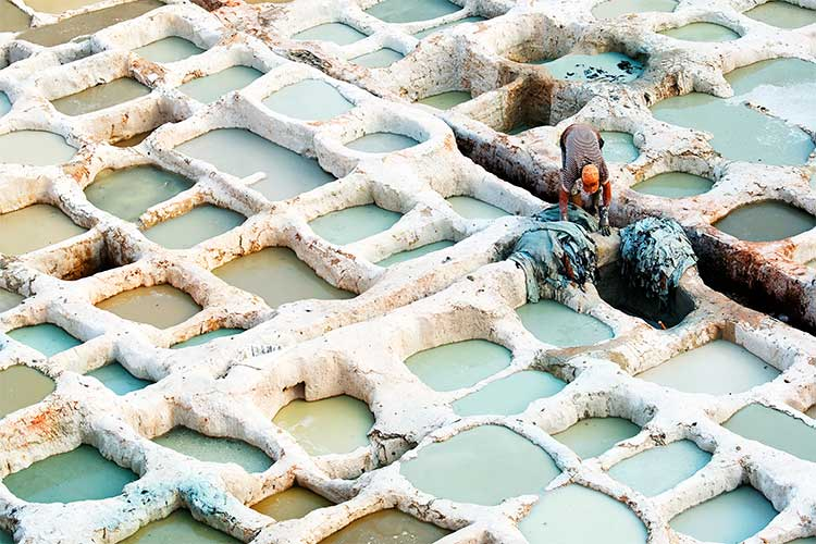 Some of the most talented Artisans in the world working the Tannery in Fes, Morocco