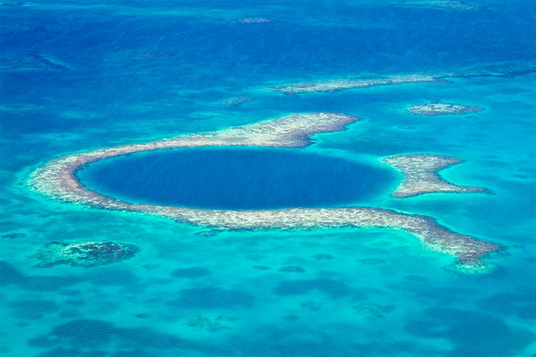 Great Blue Hole in Belize, Central America