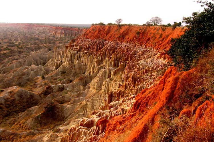 Red Sandstone Cliffs in Angola