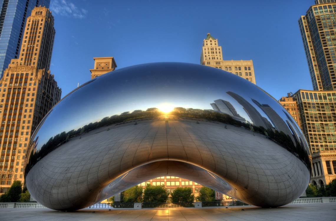 Cloud Gate in the Day
