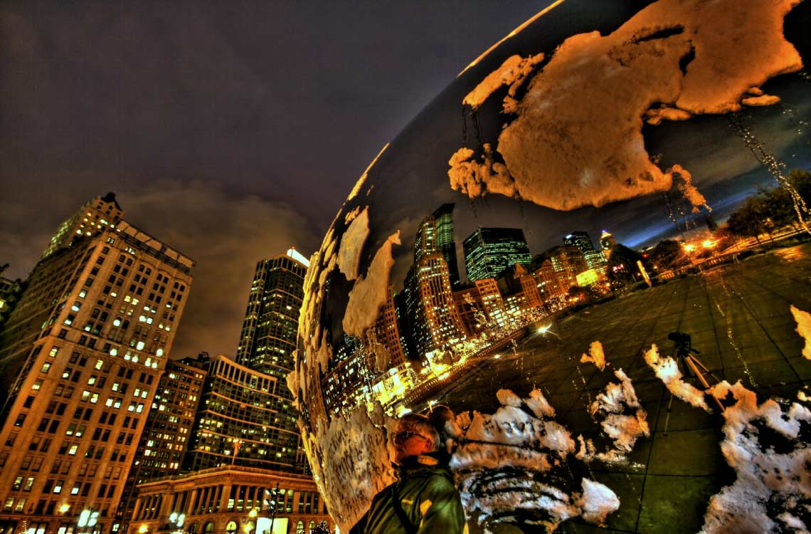 Cloud Gate Close Up