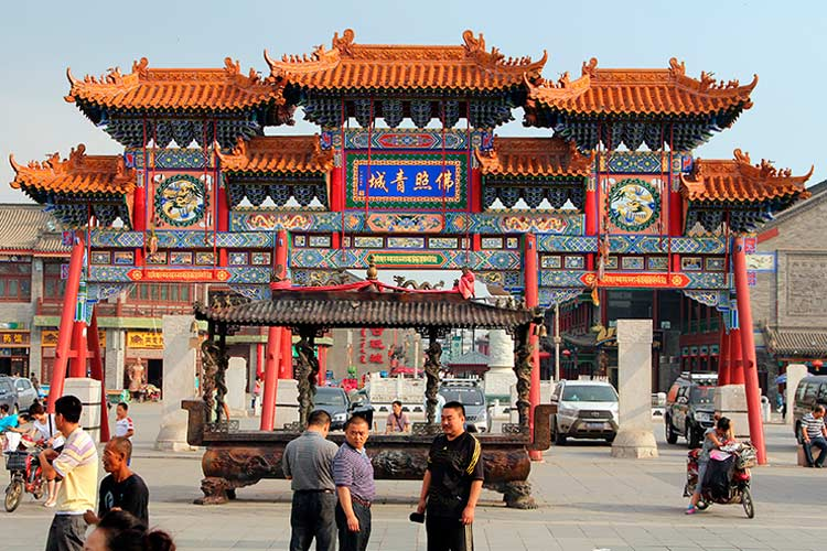 Entrance to Dazhao monastery, the largest Buddhist monastery of Inner Mongolia
