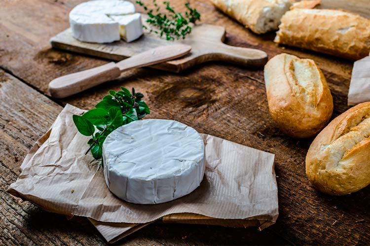 French cheese and bread,delicious food in Western Europe