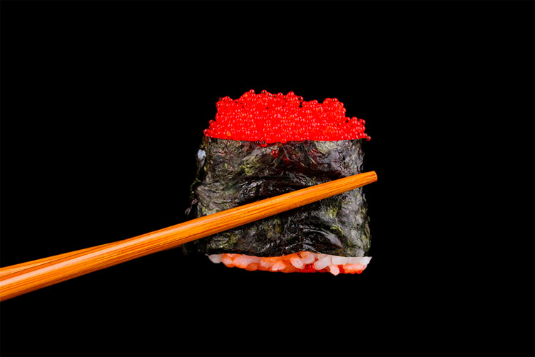Japanese Sushi, one of the most famous foods in East Asia
