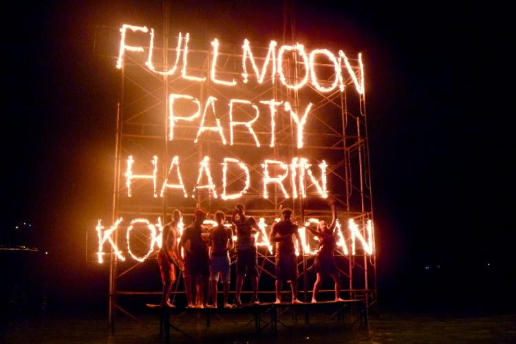 Full Moon Party, Haad Rin, Koh Phangan