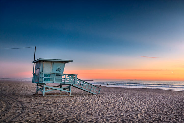 Lifeguard tower at Venice Beach, California