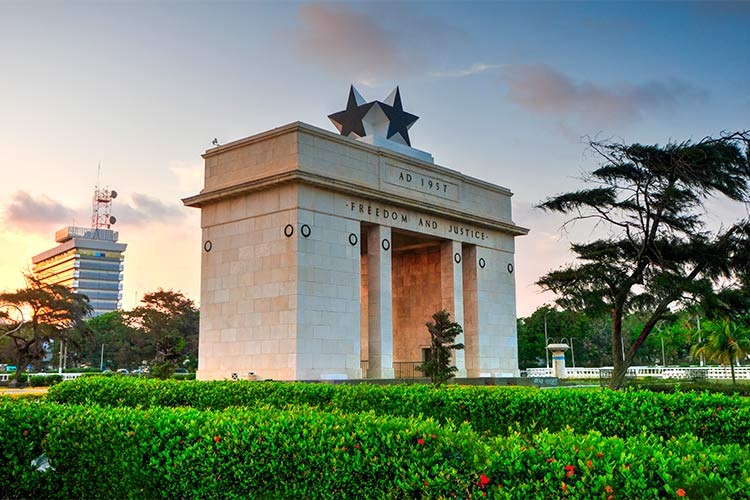 The Independence Arch of Independence Square of Accra