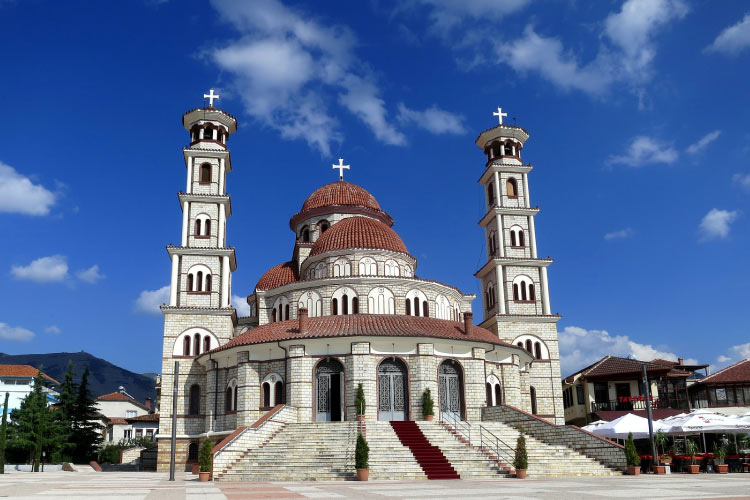 Orthodox church in Korçë, Albania