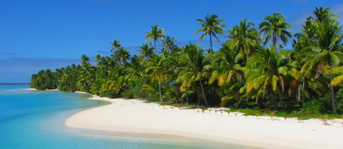 Beach on the Cook Islands