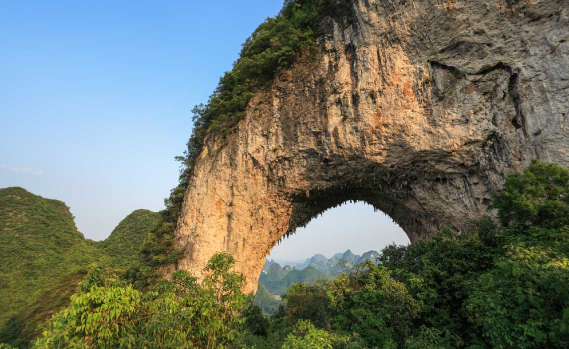 Moon Hill, China, one of the Worlds Natural Arches