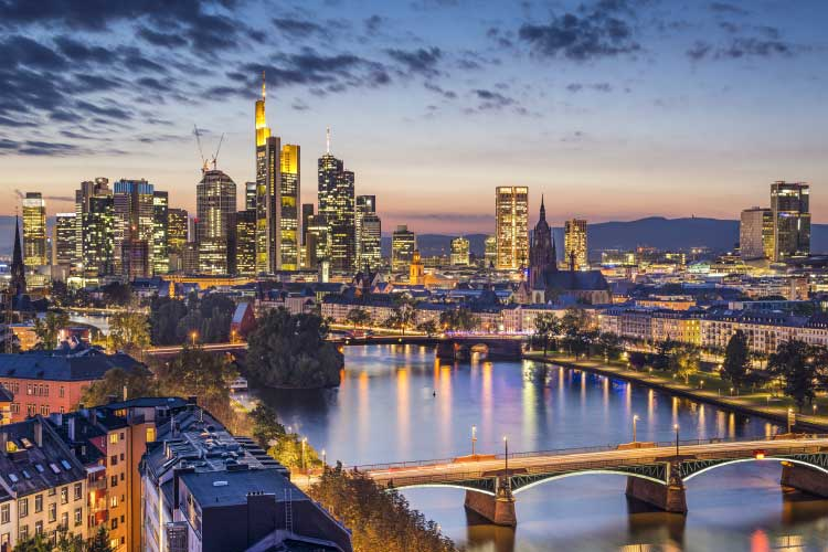 Frankfurt Financial District Skyline