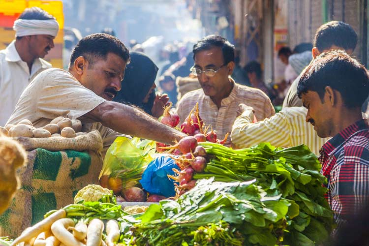 Buying Fresh Vegetables in India