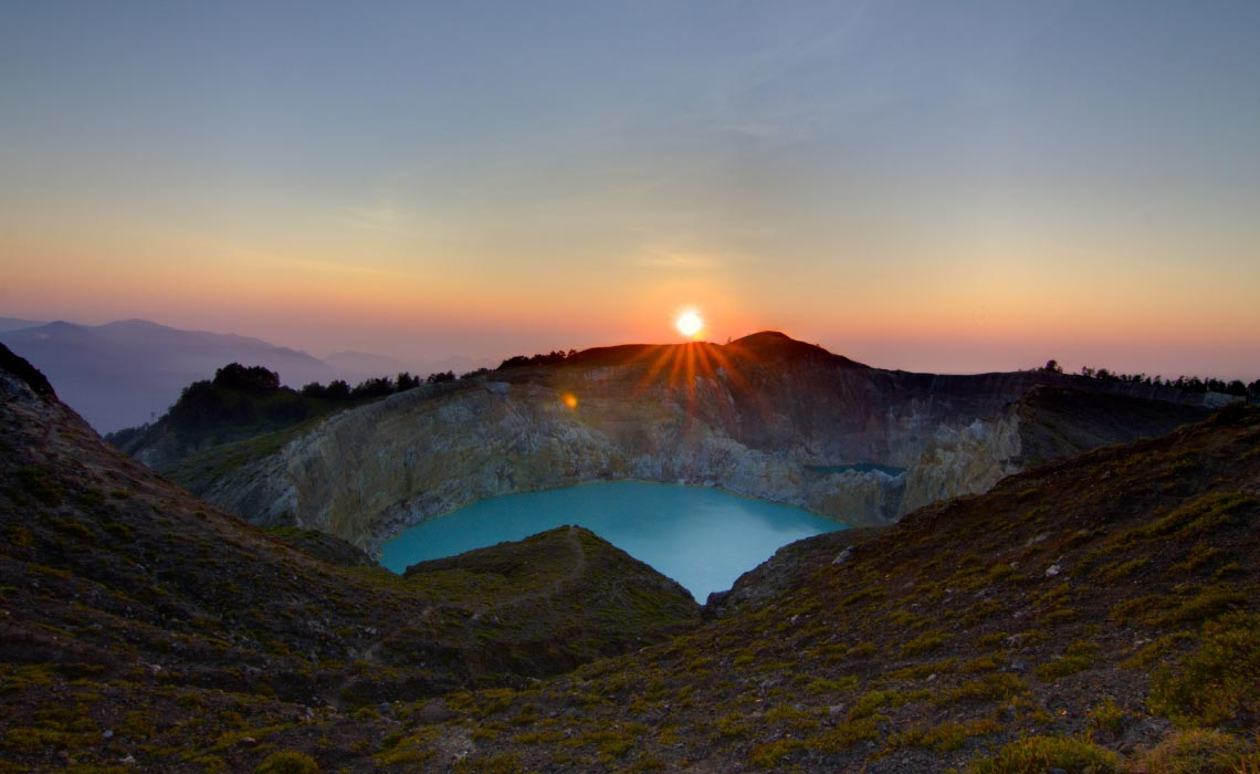 Kelimutu Crater at Sunrise, Indonesia